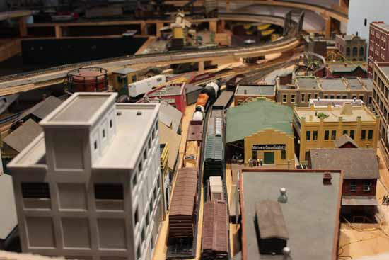 model railway city layout