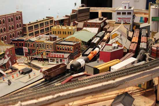 model railroad city