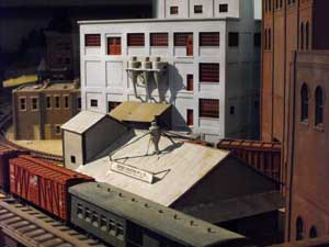 model railroad building scenery