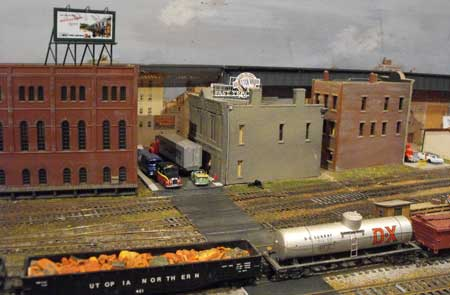 model railroad ashphalt street