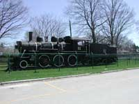 CN 2-6-0 steam engine 81 on display at Palmerston.