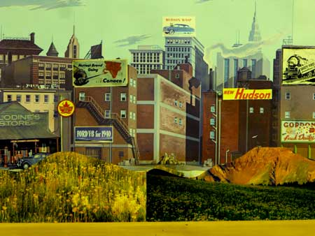 model railroad city backgrounds