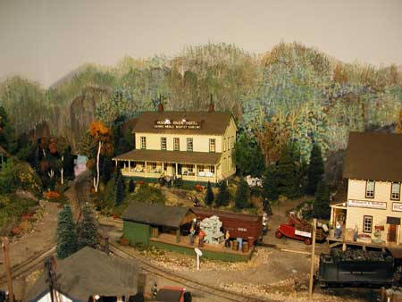 model railroad autumn foliage background scenery