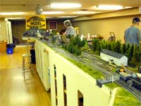 left side of NMRC modular model railroad.