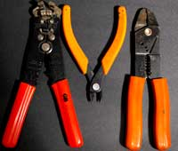 wire strippers for model railroad electrical work