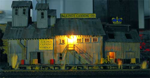 campbell cannery model at night