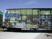 graffiti on CPAA86035 boxcar