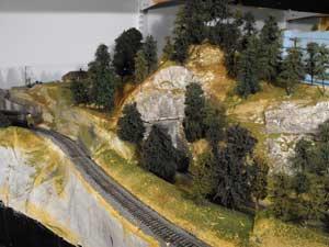 model trains handmade evergreens