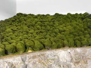 model railroad puffball forest
