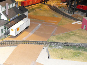 model road with cardboard template