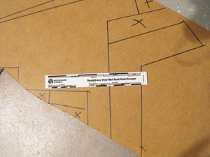 drawing road lines for model railroad