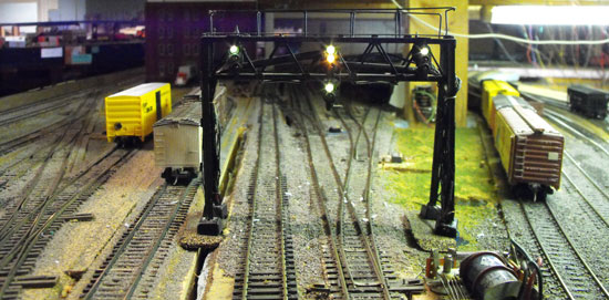 model train signal bridge