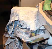 scrunched paper to support plaster cloth scenery